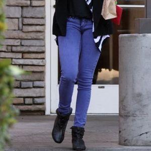 Free People Purple Skinny Jean With Ankle Zipper